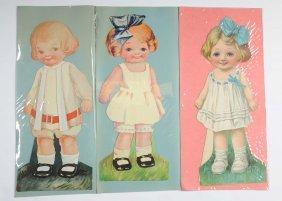 Lot Of Large Antique Paper Dolls.