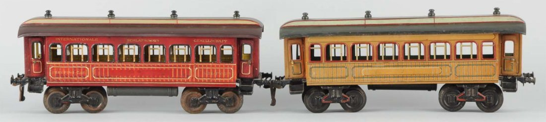 Lot Of 2: Gauge 1 Bing Continental Coaches.