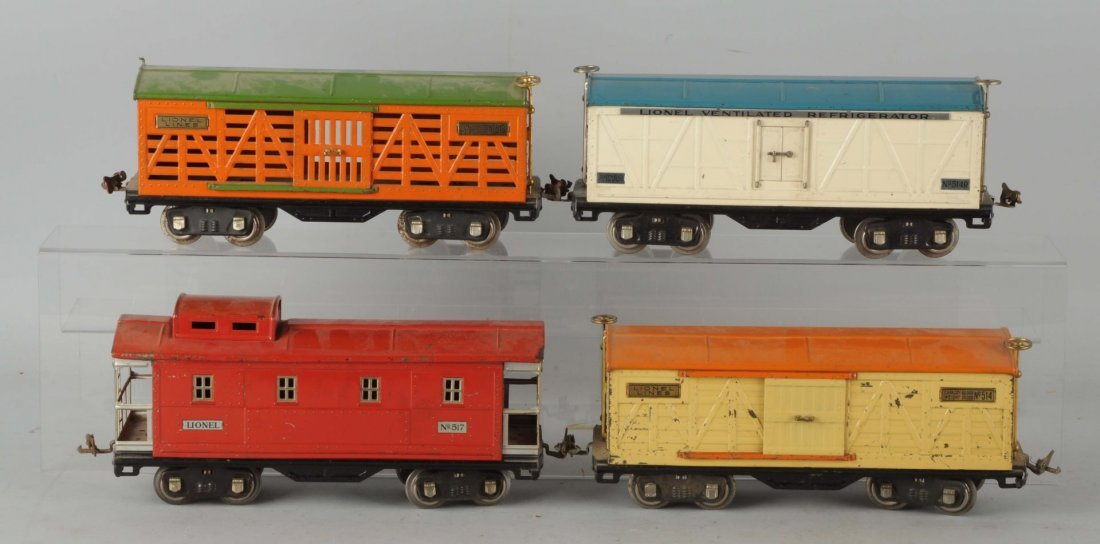 Lot Of 4: Lionel 500 Series Freight Cars.