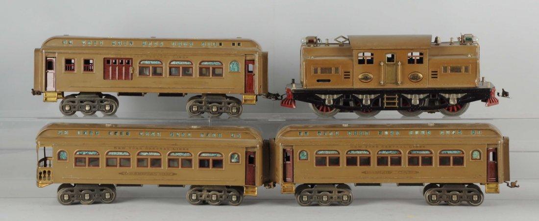 Lot of 4: Lionel 402 Locomotive & Passenger Cars.