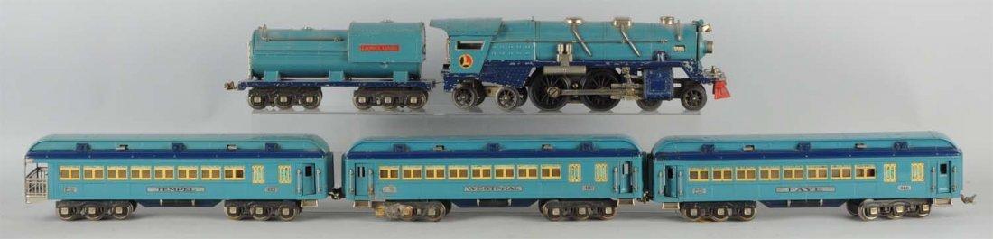Lionel No. 400E Nickel Trim Blue Comet Set.