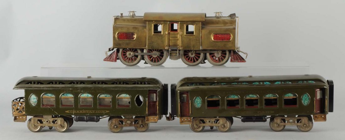 Lot of 3: Lionel Brass No. 54 & Passenger Cars.
