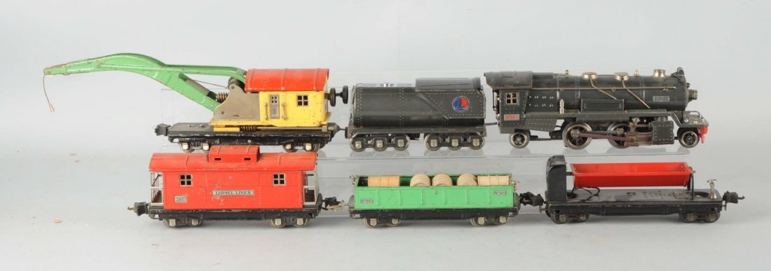 Lot of 6: Lionel No.260 Locomotive & Freight Cars.