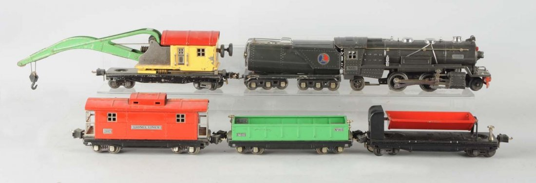 Lot of 6: Lionel No.263 Locomotive & Freight Cars.