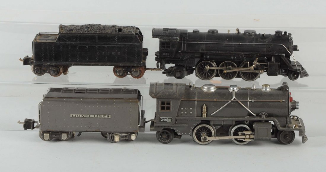 Lot of 4: Two Sets of Locomotives & Tenders.