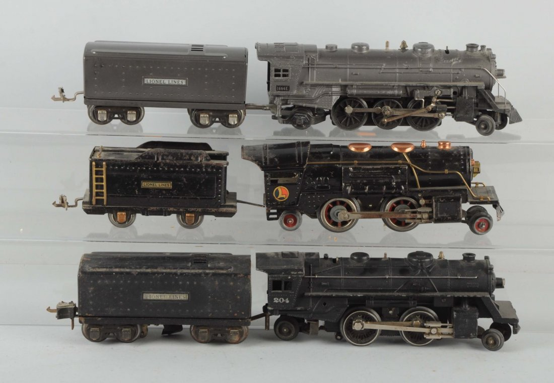 Lot of 6: Three Sets of Locomotives & Tenders.