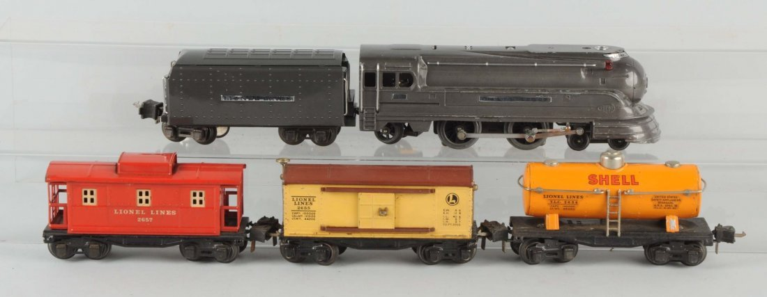 Lot of 5:Lionel No.238E Locomotive & Freight Cars.