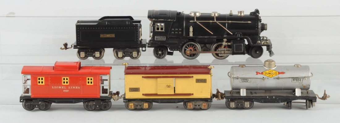 Lot of 5: Lionel No. 261E Locomotive & Cars.