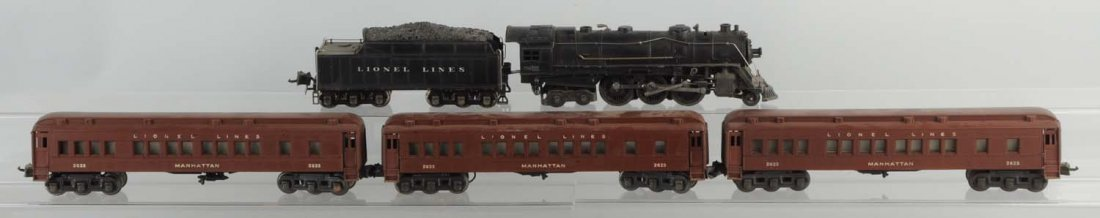 Lot of 5: Lionel No.226E & Madison Cars.