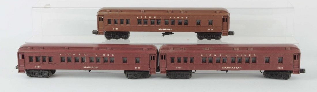 Lot Of 3: Lionel Post War Madison Cars.
