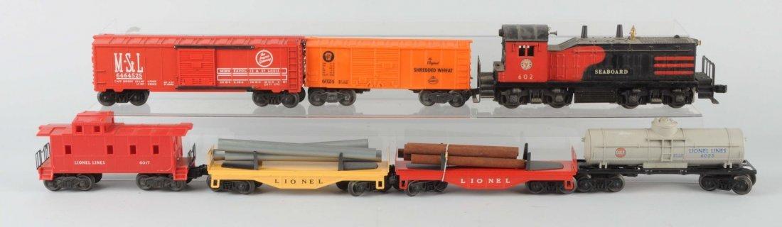 Lot of 7: Lionel No. 602 Seaboard Set.