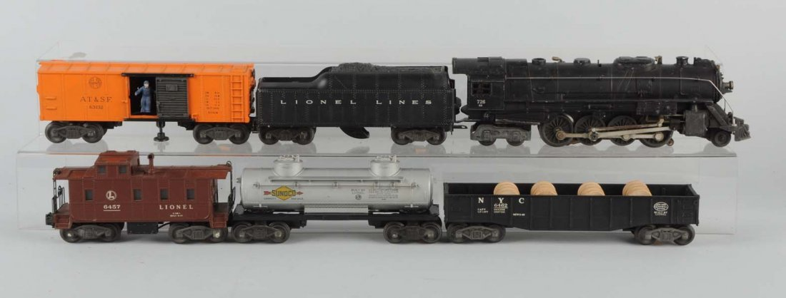 Lot of 6: Lionel No. 726 RR & Freight Cars.