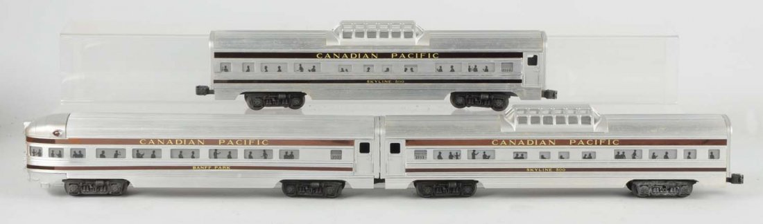 Lot Of 3: Lionel Canadian Pacific Passenger Cars.