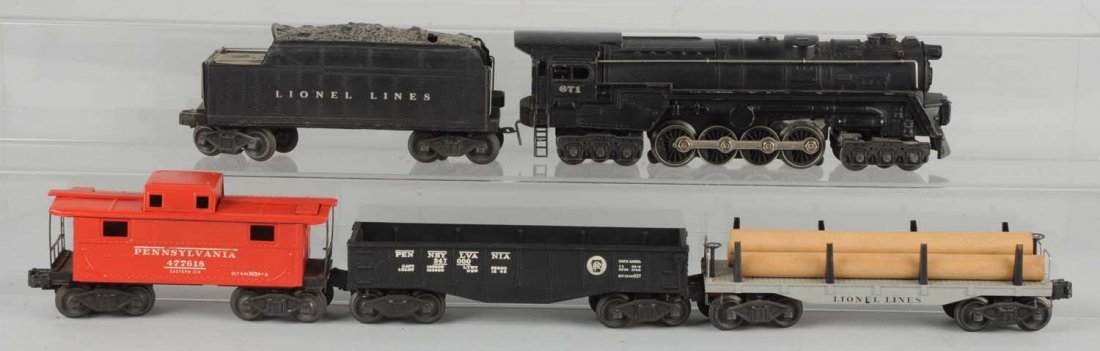 Lionel 671 Loco & Tender with Freight Cars.