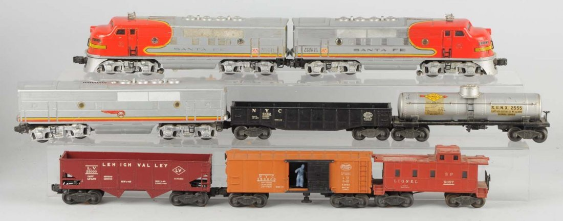 Lionel No. 2343 A.B.A. and Freight Cars.