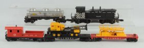 Lot Of 5: Lionel No.616 Engine & Freight Cars.