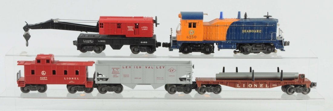 Lot of 5: Lionel No. 6250 Seaboard Freight Set.
