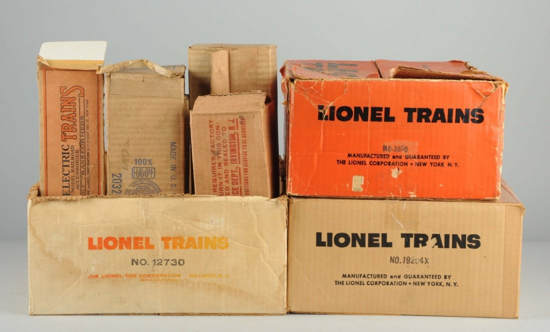 Grouping Lionel Set Boxes.
