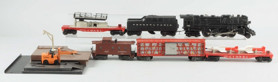 Lionel No. 736 Set With No. 6557 Smoke Caboose.