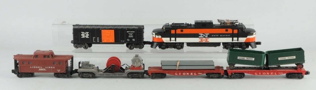 Lionel No. 2150 New Haven PP-5 Freight Car Set.