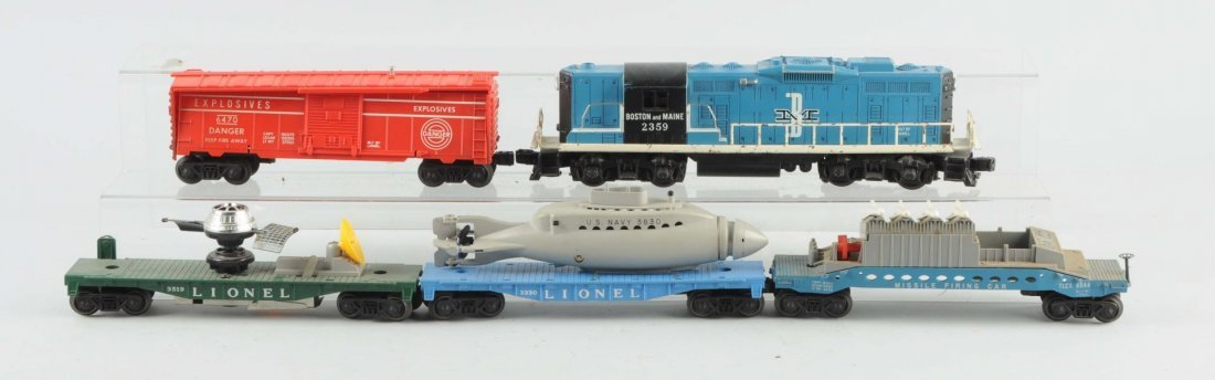 Lot of 5: Lionel No.2359 Boston & Maine & Freights
