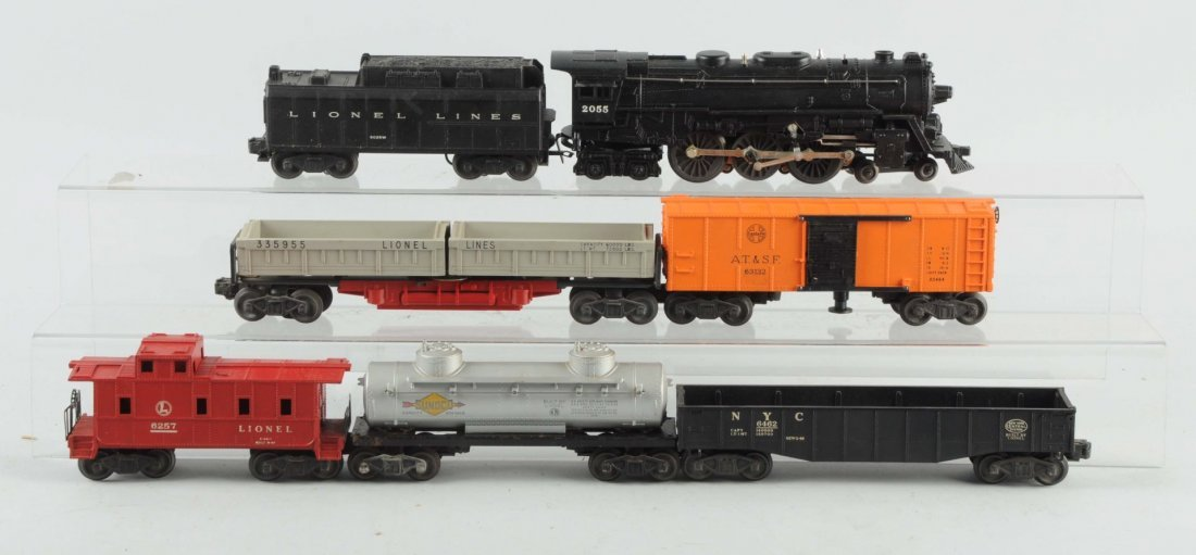 Lionel No. 2055 Steam Locomotive & Freight Cars.