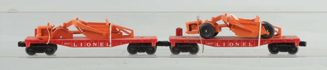 Lot of 2: Lionel No.6817 Flat Cars.