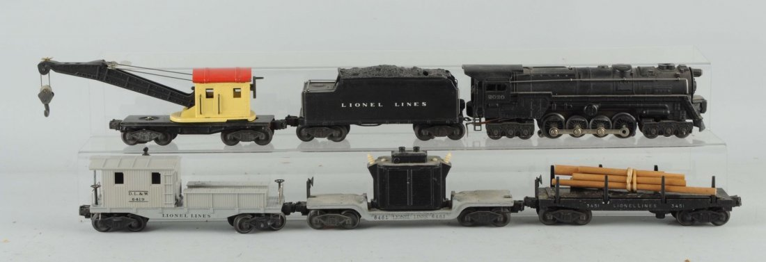 Lot of 6: Lionel No. 2020 Engine & Freight Cars.