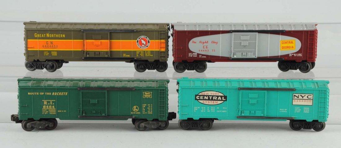 Lot Of 4: Lionel Box Cars.