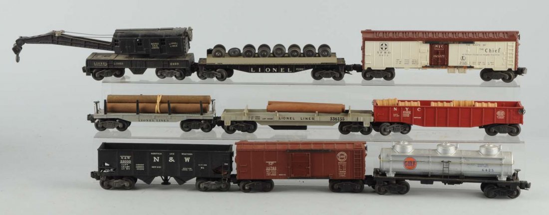 Lot Of 9: Lionel Post War Freight Cars.
