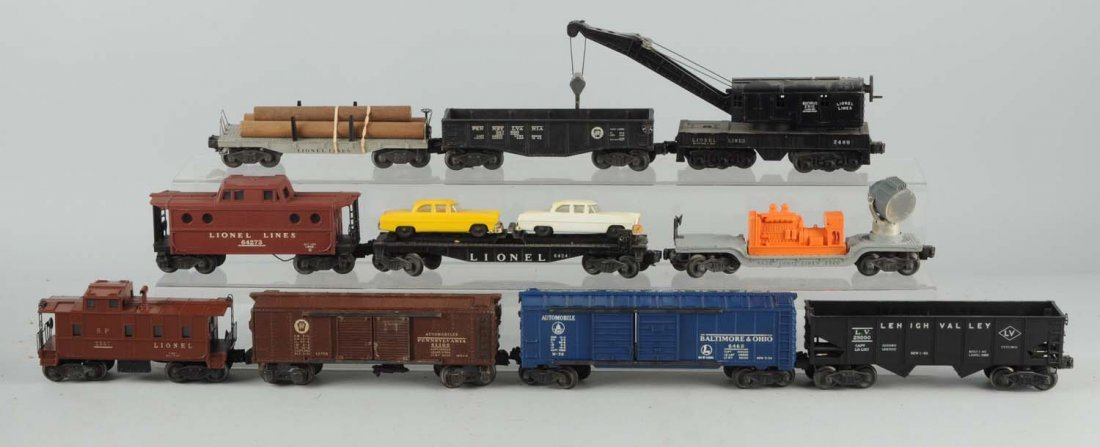 Lot Of 10: Lionel Post War Freight Cars.
