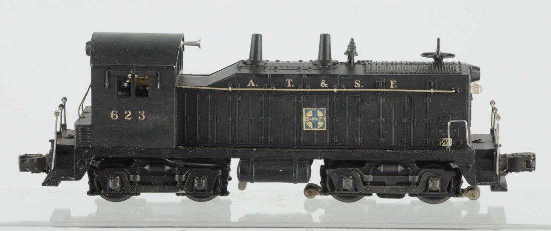 Lionel No. 623 Santa Fe Diesel Switcher.