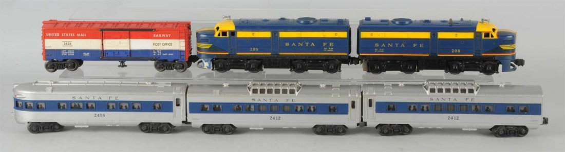 Post War Lionel No. 1626W Santa Fe Boxed Set.