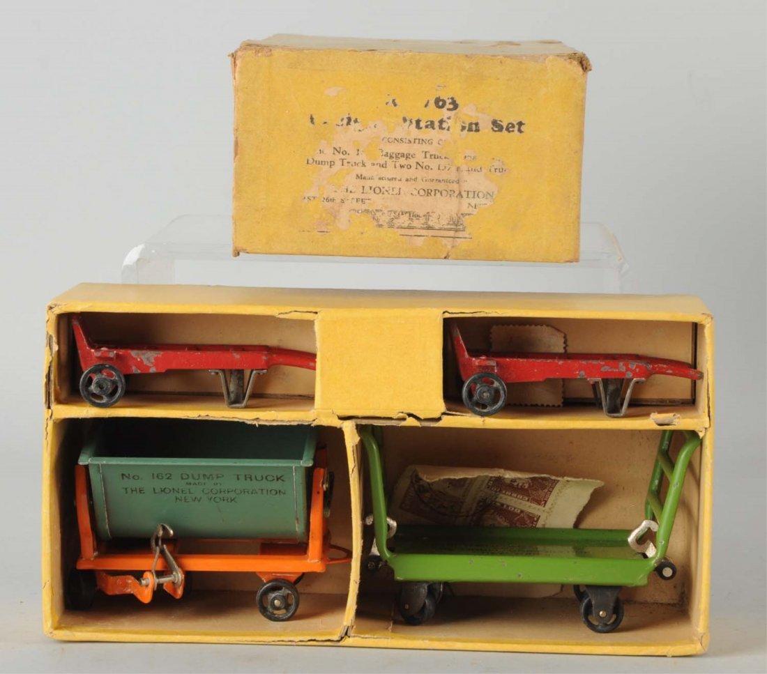 Lionel No. 163 Baggage Cart Set.