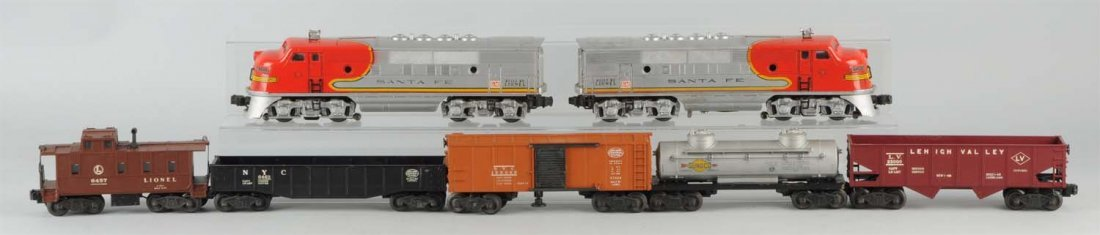 Lionel No. 2175W Santa Fe Boxed Set.