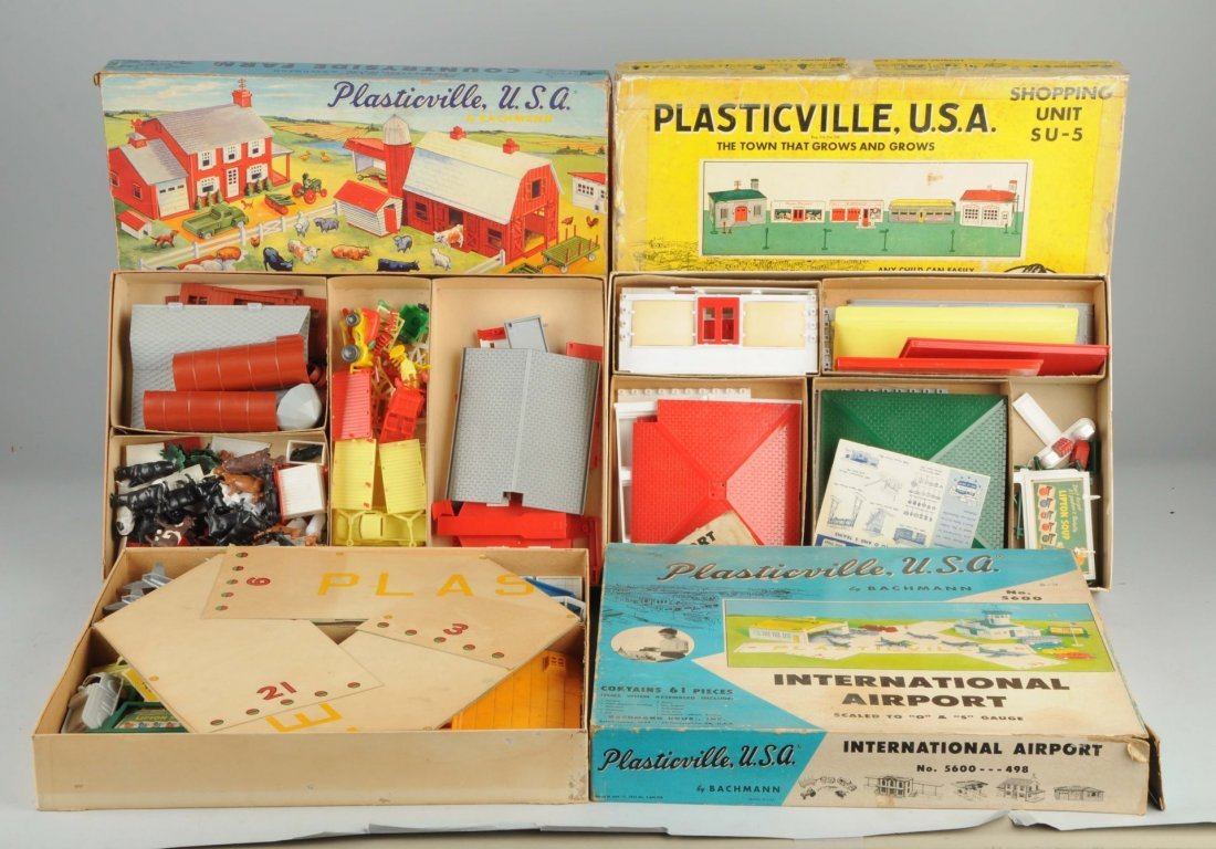 Lot Of 3: Plasticville Boxed Sets.