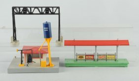 Lot Of 3: Lionel Signal Bridge & Stations.