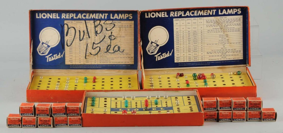 Large Lot Of Lionel Replacement Bulbs.