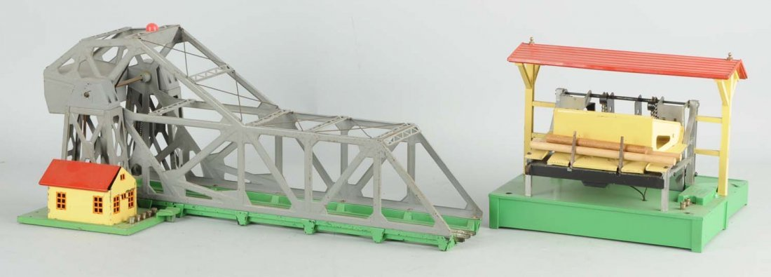 Lionel Grey No. 313 Bascule Bridge & Lumber Loader