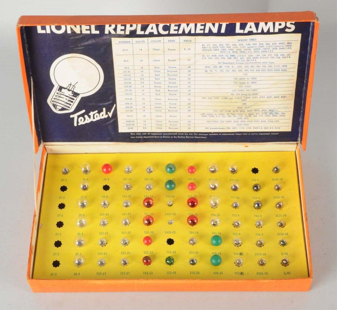 Lionel No. 122 Lamp Assortment Set.