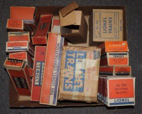Lot Of Assorted Post War Lionel Train Boxes.