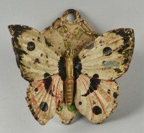 Cast Iron Oversized Butterfly Match Safe.