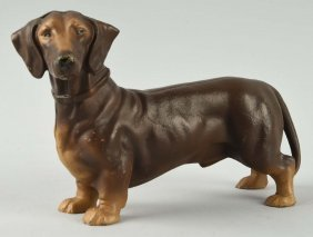 Cast Iron Dachshund Dog Doorstop.