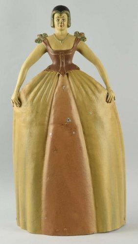 Cast Iron Victorian Lady Porter.