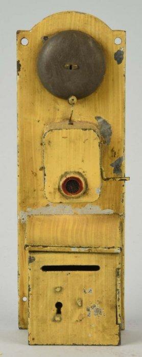 Tin Crank Telephone Still Bank.