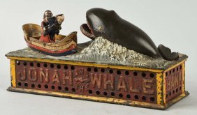Shepard Hardware Jonah & Whale Mechanical Bank.