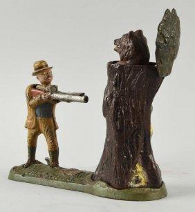 J. & E. Stevens Teddy &the Bear Mechanical Bank.