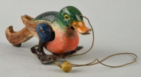 Hubley Cast Iron Pull Toy Duck.