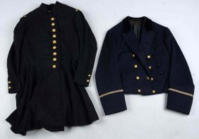 Lot Of 2:french Frock Coat & Officer's Mess Tunic.