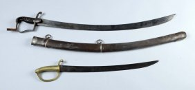 Lot Of 2: Swords With Scabbards.
